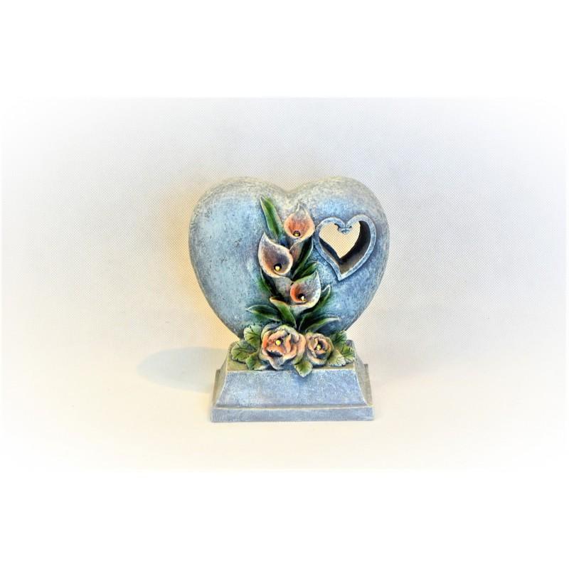 Svietiace srdce solar 18.5cm