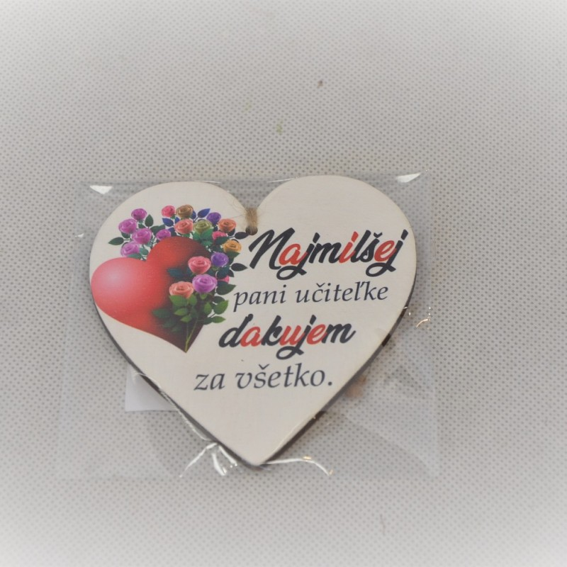 Magnetka srdce 9cm